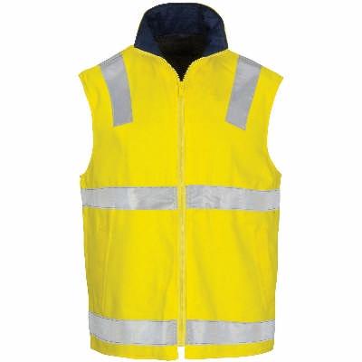 HiVis Cotton Drill Reversible Vest with CSR R/Tape