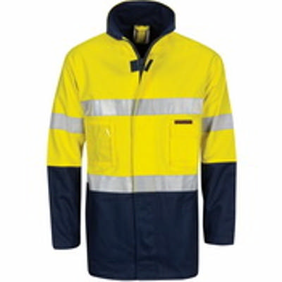 HiVis Ctn Drill 2 In 1 Jacket w/ CSR RTape
