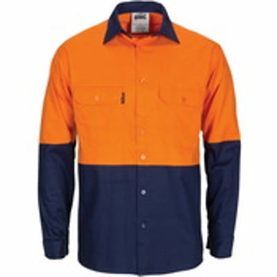HiVis RW Cool-Breeze T2 Vertical Vented Ctn Shirt w/ Gusset Sleeve- LS