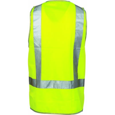 Day & Night Safety Vest with H Pattern CSR R/Tape