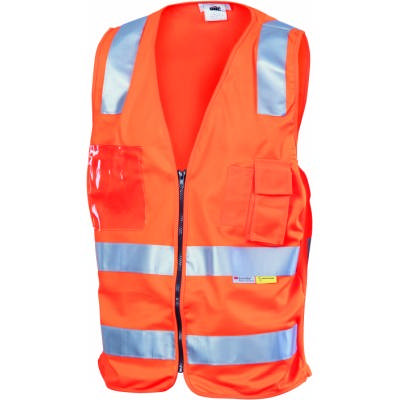 Day/Night Side Panel Safety Vest, 3M8906 R/Tape