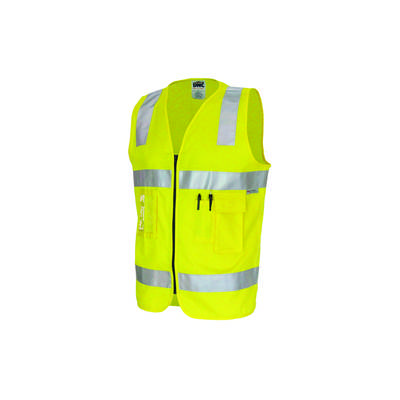 190gsm Day/Night Cotton Safety Vest, 3M8906 R/Tape