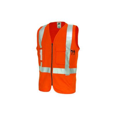 190gsm Day/Night Cross Back Cotton Safety Vest, 3M8906 R/Tape