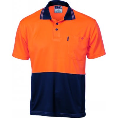 HiVis 2Tone Cool Breathe Polo Shirt, SS