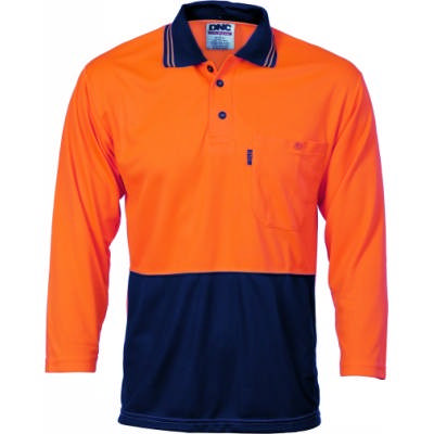 175gsm HiVis Two Tone Cool Breathe Shirt, 3/4 Sleeve