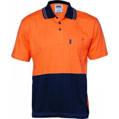 HiVis Cool-Breeze Ctn Jersey Polo w/ Under Arm Ctn Mesh-SS