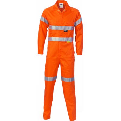HiVis Cotton Coverall With 3M RTape