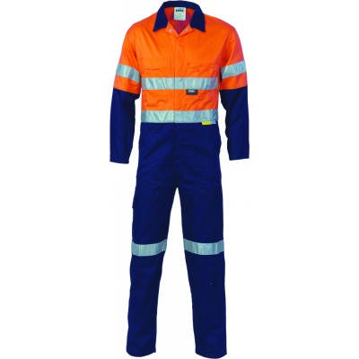 311gsm Hi-Vis Two Tone Cotton Coverall with 3M8906 R/Tape