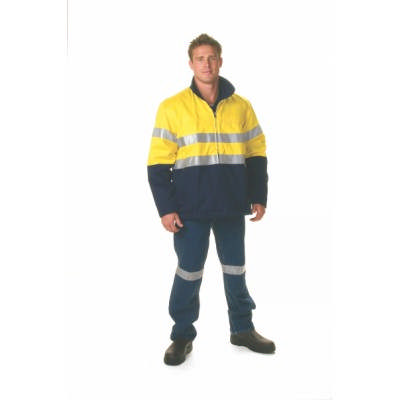 311gsm Hi-Vis Two Tone Protector Drill Jacket with 3M8906 R/Tape