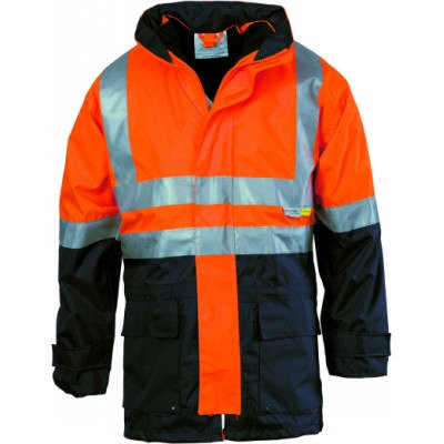 4in1 HiVis 2Tone Breathable Jacket w/ Vest And 3M RTape