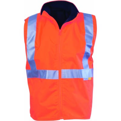 300D Polyester/PU HiVis Reversible Safety Vest With 3M8906 R/Tape