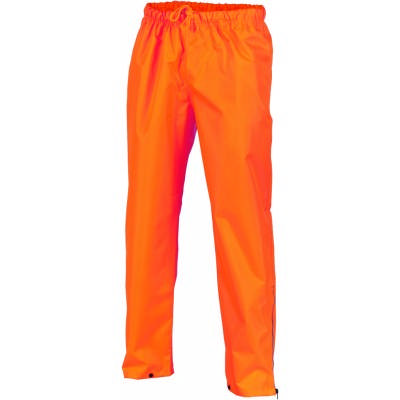 300D Polyester/PU HiVis Breathable Rain Trousers