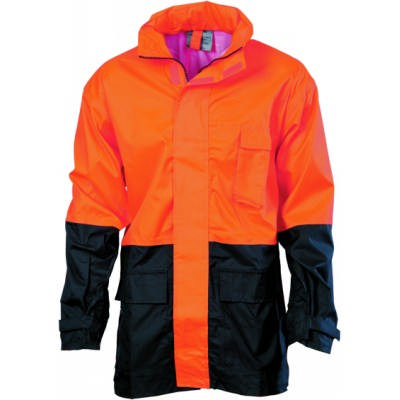 HiVis Two Tone Lightweight Rain Jacket