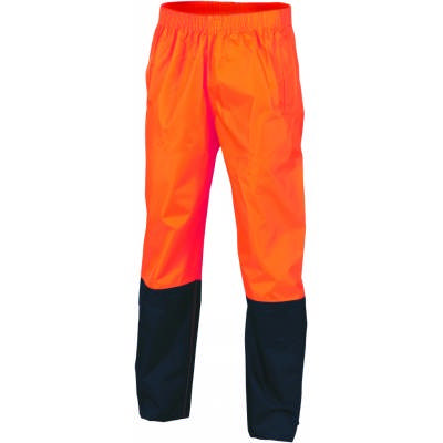 190D Polyester/PU HiVis Two Tone Light Weight Rain Pant