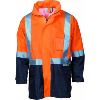 190D Polyester/PU Hi-Vis Two Tone Light Weight Rain Jacket with 3M8906 R/Tape
