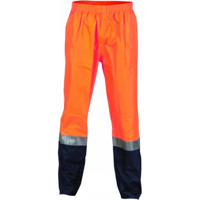 190D Polyester/PU Hi-Vis Two Tone Light Weight Rain Pant with 3M8906 R/Tape
