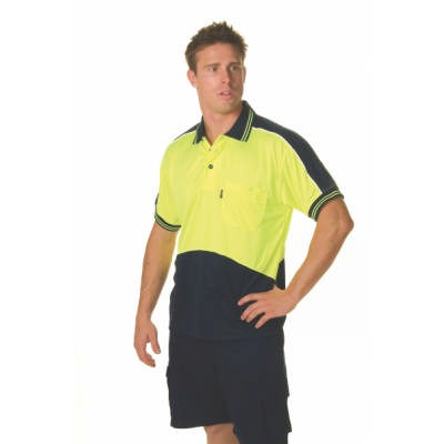 175gsm HiVis Cool Breathe Panel Polo Shirt, S/S