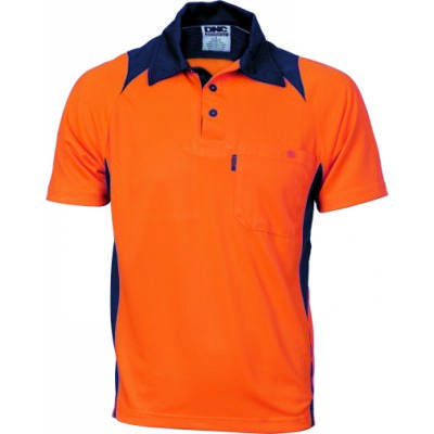 175gsm HiVis Cool Breathe Action Polo Shirt, S/S