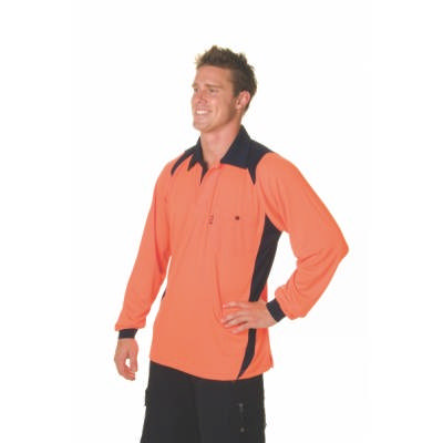 175gsm HiVis Cool Breathe Action Polo Shirt, L/S