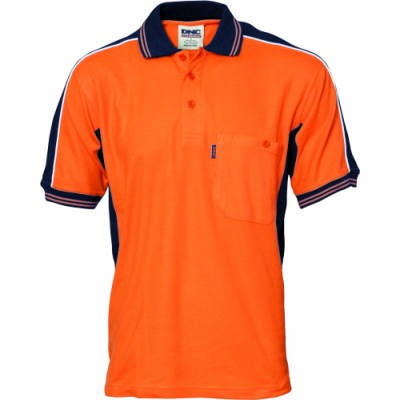 220gsm Polyester Cotton Contrast Polo Shirt, S/S