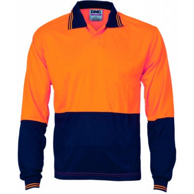 175gsm HiVis Food Industry Polo, L/S