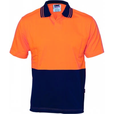 200gsm HiVis Cool-Breeze Cotton Jersey Food Industry Polo with Under Arm Airflow Vents, S/S
