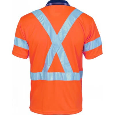 HiVis DN Cool Breathe Polo w/ Cross Back RTape-SS