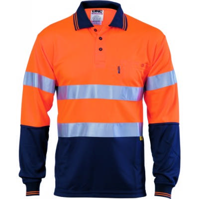 HiVis DN Cool Breathe Polo w/ 3M 8906 RTape-LS