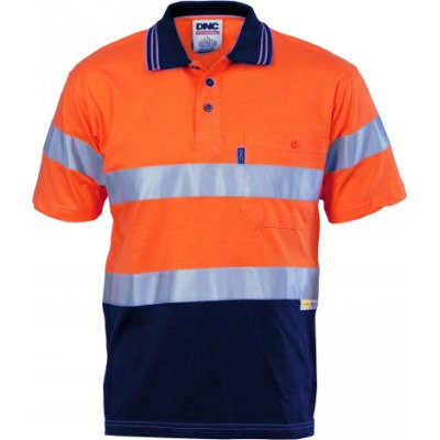 HiVis Cool-Breeze Ctn Jersey Polo w/ CSR RTape-SS