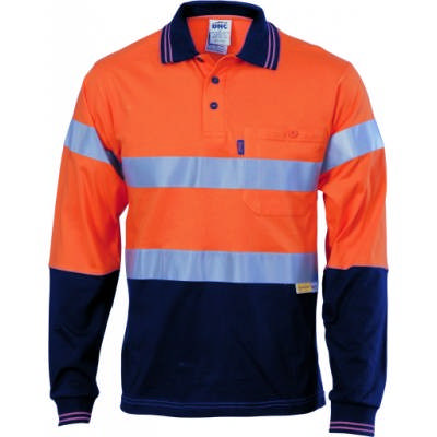 HiVis Cool-Breeze Ctn Jersey Polo w/ CSR RTape-LS