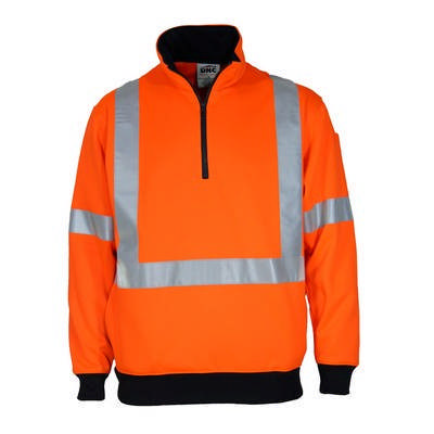 HiVis 12 Zip Fleecy w/ X Back & Additional Tape On The Back
