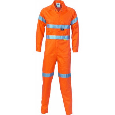 HiVis Cool-Breeze 2Tone L.Weight Ctn Coverall w/ 3M RTape