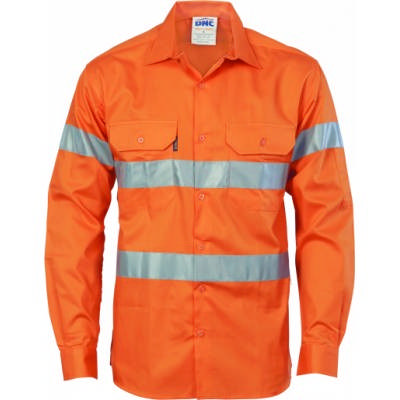 HiVis Cool-Breeze Ctn Shirt w/ CSR RTape-LS 8XL