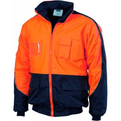 200D Polyester/PVC HiVis Contrast Panel Pilot Jacket