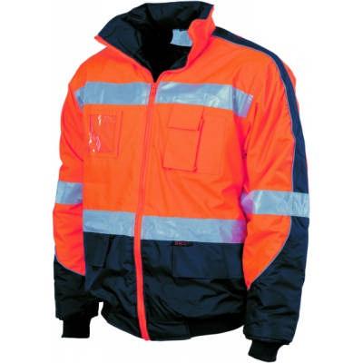 200D Polyester/PVC HiVis D/N Contrast Panel Pilot Jacket