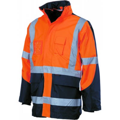 HiVis CroSS Back 2Tone DN 6in1 Contrast Jacket (Outer Jacket And Inner Vest Can Be Sold Se