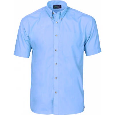 110gsm Polyester Cotton Chambray Business Shirt, S/S