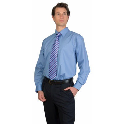 115gsm Polyester Cotton Mens Premier Poplin Business Shirts, S/S