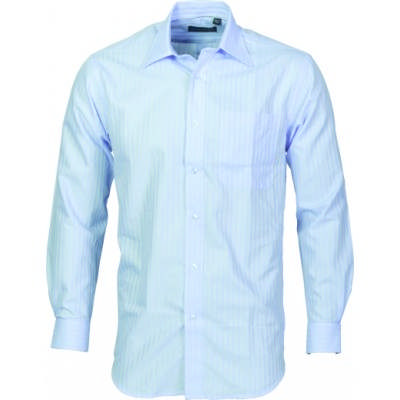 120gsm 60% Cotton Mens Tonal Stripe Shirt, L/S