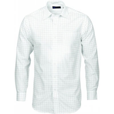 120gsm 60% Cotton Mens Yarn Dyed Check Shirt, L/S