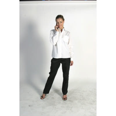 110gsm Polyester Cotton Ladies Poplin Shirt, L/S