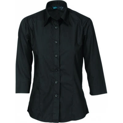 100gsm Ladies Polyester Cotton Shirt, � Sleeve