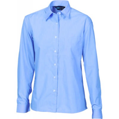 110gsm Polyester Cotton Ladies Chambray Shirt, L/S