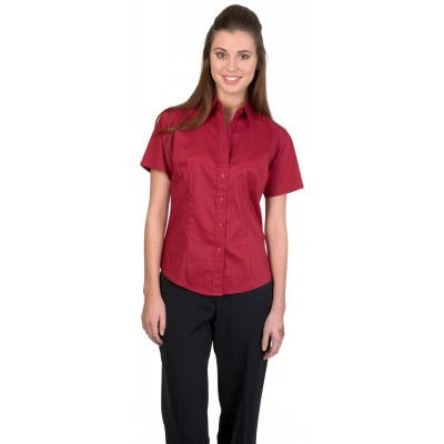 120gsm 60% Cotton Ladies Premier Stretch Poplin Shirts, S/S