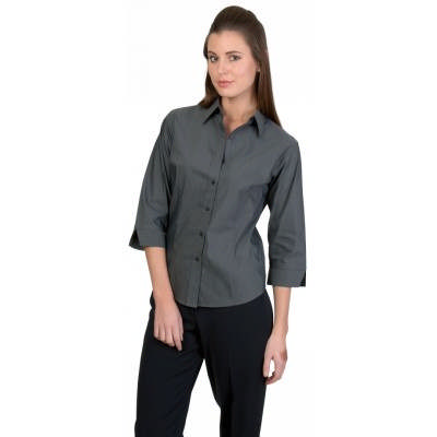120gsm 60% Cotton Ladies Premier Stretch Poplin Shirts, 3/4 Sleeve