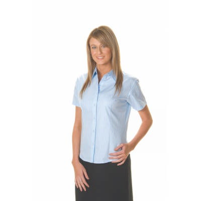 120gsm 60% Cotton Ladies Tonal Stripe Shirt, S/S