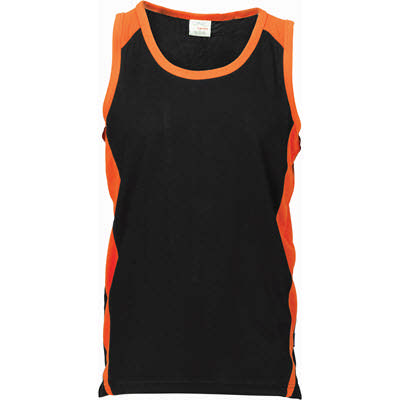 175gsm Polyester Adult Cool-Breathe Contrast Singlet