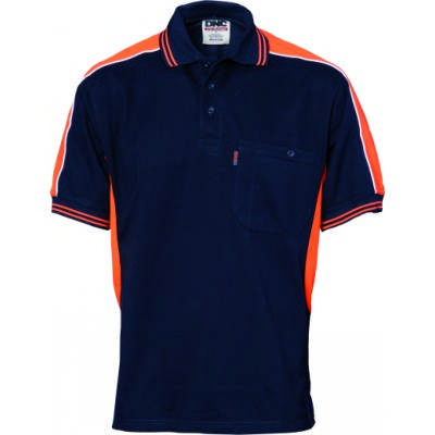 220gsm Polyester Cotton Panel Polo Shirt, S/S