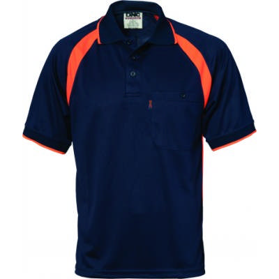 175gsm Cool Breathe Contrast Polo Shirt, S/S