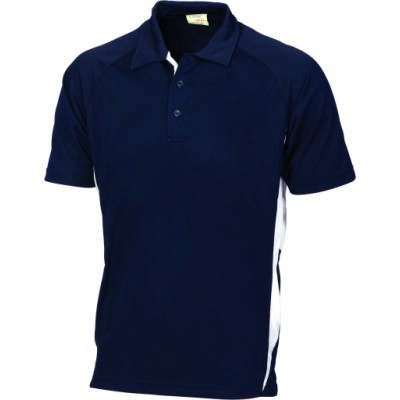 175gsm Polyester Adult Cool-Breathe Side Panel Polo Shirt